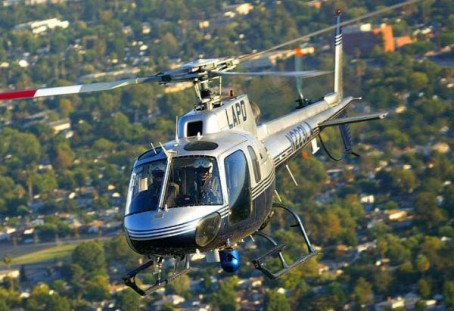 LAPD EC AS350 Helicopter on patrol. Photo by Glenn Grossman, used by permission.