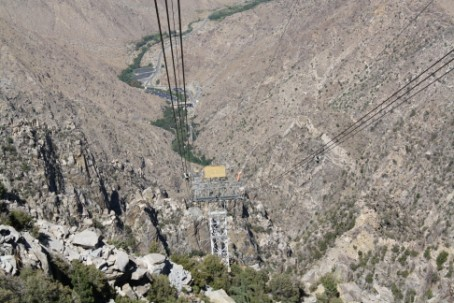Looking down toward the valley floor.