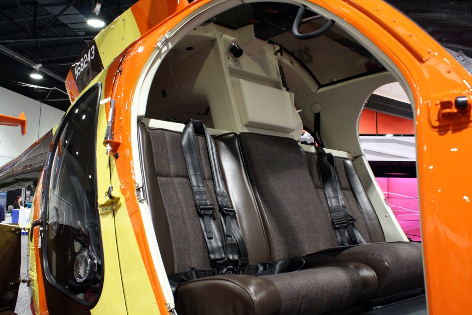 The MD500D's egg shape cabin and what is essentially a built in roll bar make it a very tough little helicopter.