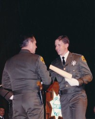 Graduating the Sheriff's Academy, May of 1986.