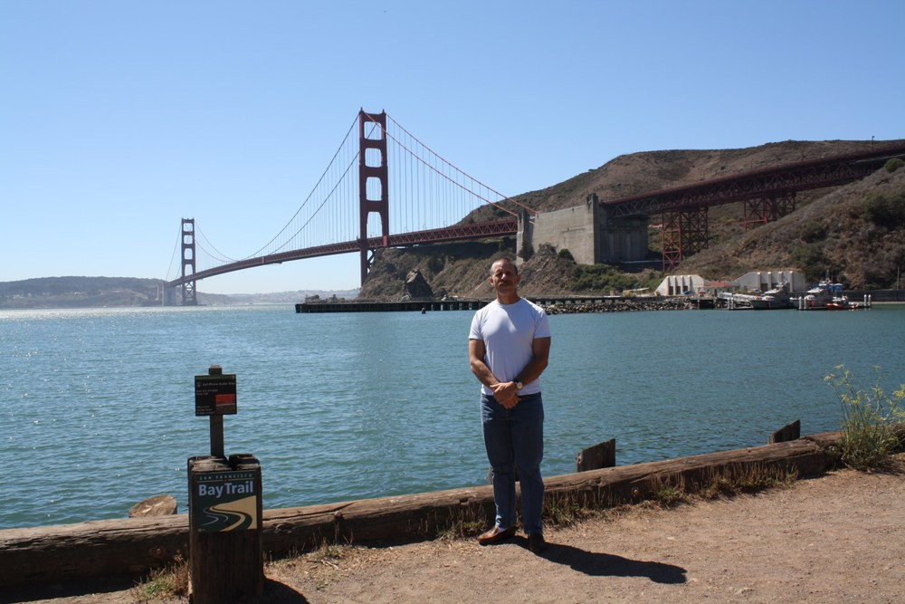 Me being a tourist. First visit to San Francisco after 30 years in the state.