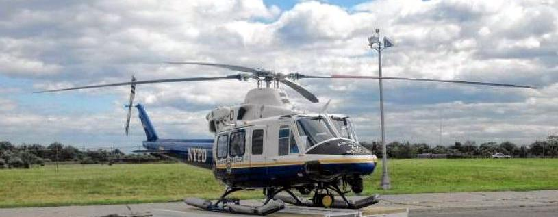 This high tech Bell 412 EO operated by NYPD has radiation detecting capabilities. It is reported to have cost between $9 million and $14 million when all of its specialized equipment is factored in.