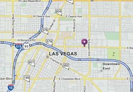 The area of Las Vegas where Las Vegas Air Support helicopter went down. Graphic- Mapquest