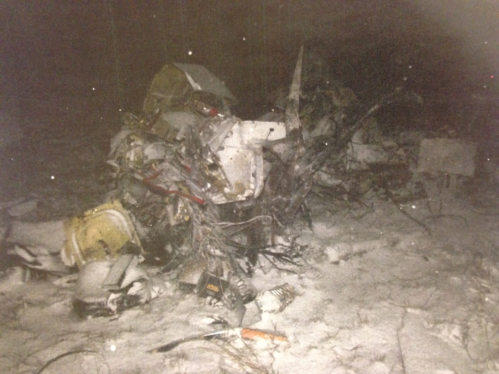 Photo of crash scene released by the Cochise County Sheriff's Office.