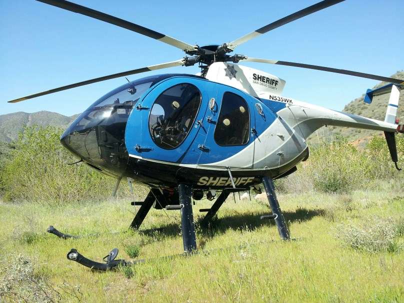 Cedar Creek Falls is still about a 5 minute hike from our helicopter LZ. N535WK is a MD 530 jet turbine helicopter.
