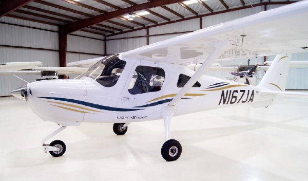 This 2010 Cessna 162 Skycatcher cost about half of what an older R-22 helicopter cost. Both are 2 seaters