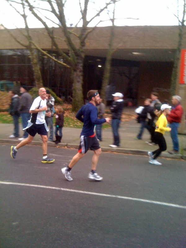 Yesterday I ran the Seattle half marathon with my good friend Jerry. It was a lot of fun, and we came within 5 minutes of Jerry's goal of running it in 2 hours. It might have been my un-aerodynamic beard or Jerry's dislike of hills that kept us from achieving that mark.