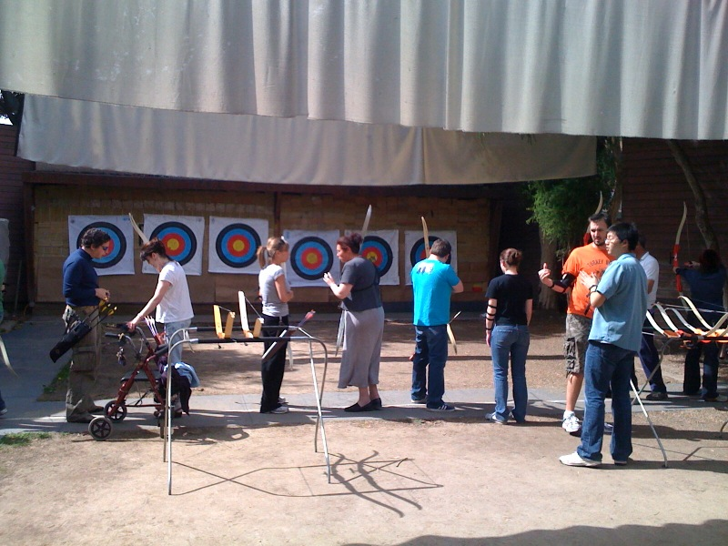 """[caption id=""""attachment_1394"""" align=""""alignnone"""" width=""""500"""" caption=""""archers at Rancho Park""""][/caption] This weekend I took an intro to archery course, which was very enlighting. Here are some random archery thoughts. I am left-eye dominant yet right handed, which is causing some major coordination issues when it comes to even the most simple of archery motions. Not good. Archery is free in Los Angeles. There is a really nice range that was built for the olympics, which is run by an awesome group of volunteers who're trying to keep the sport alive. Archery is actually quite enjoyable, so I'll go again this upcoming weekend. Learn more about . Any other archers out there?"""