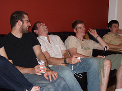 We had a little Mac-N-Wii Fest at my place last night. I am happy to report that I remain unbeaten in tennis (even though I did lose one out of three matches against Evan yesterday) and disappointed to say that Jen continues to kick my butt  in boxing. There must be something wrong with the boxing game play. There are lots of pics to be seen on my Flickr.