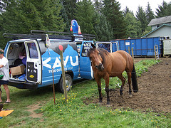 I just got back from Hood to Coast. It was a phenomenal weekend and I'll try to give a recap tomorrow. In the meantime, I uploaded all the pictures on my Flickr page. Just click on the horse, folks.