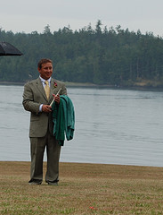Elisa's wedding was incredible, despite some rain. Here's the first of many pictures to come. My buddy Charlie, and resident usher, is happy as a clam, while holding his green usher towel. Charlie...give your parents a big hug for letting us camp in your backyard. rainy yet happy