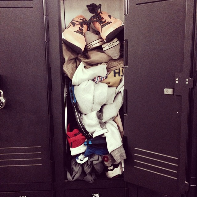 Does your brain ever feel like this anonymous gym locker?
