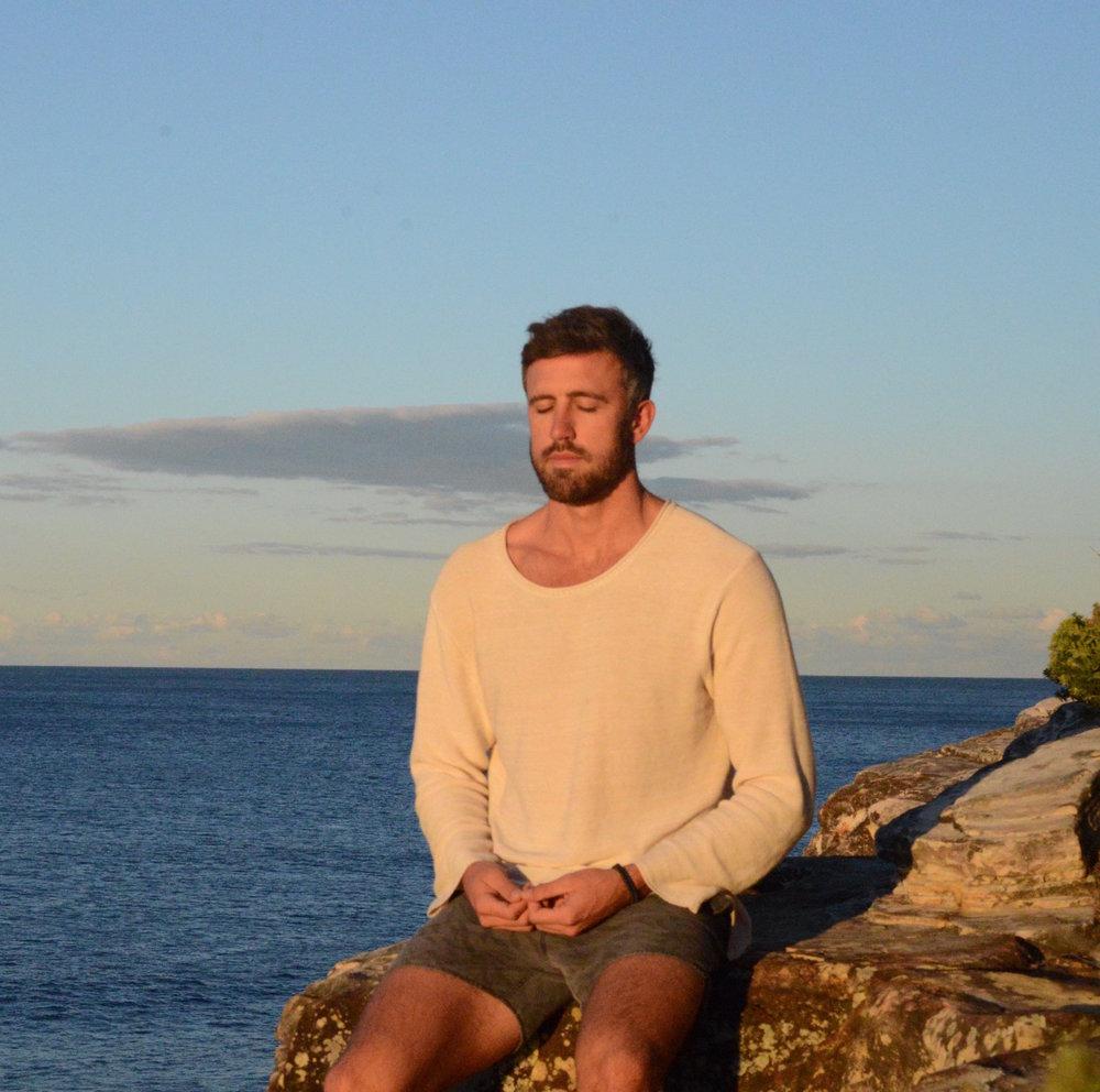 Luke Meditating at home