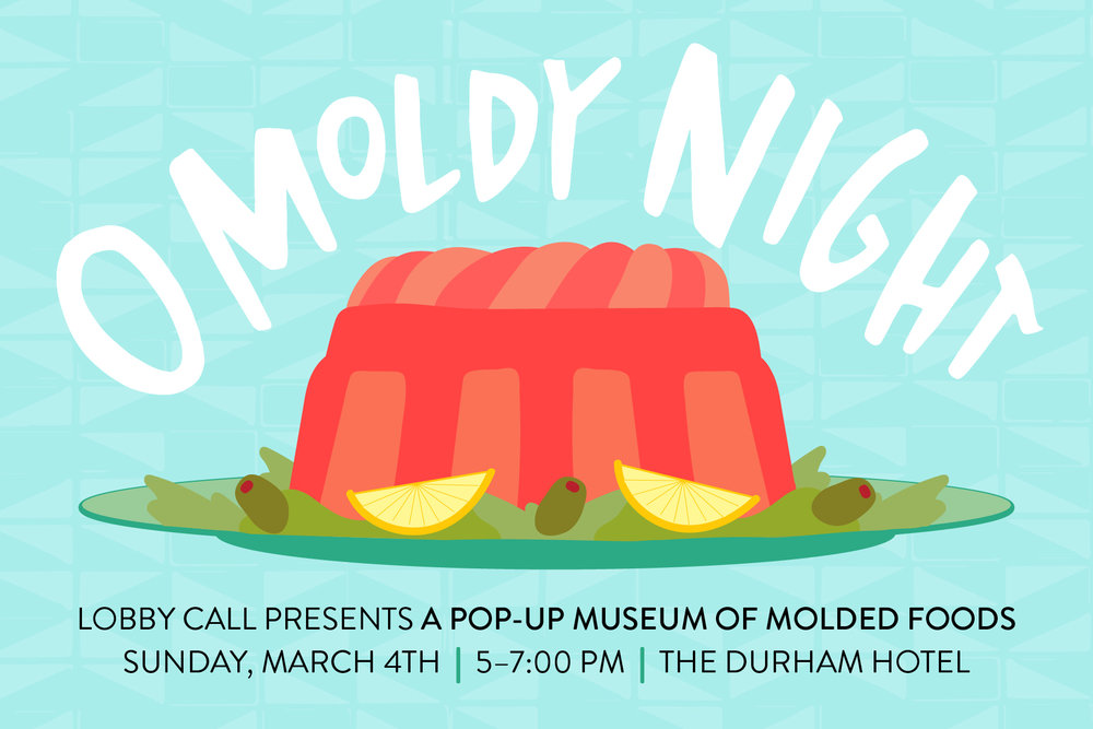 Logo for a pop-up museum of molds co-curated for the  Durham Hotel .