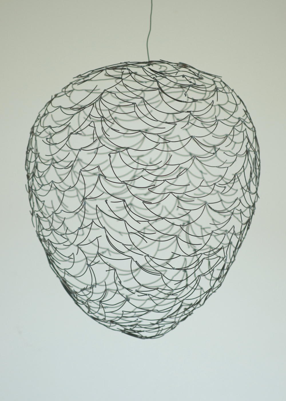 "Hive/Swarm Drawing 1  , 2014  Steel, 23"" x 17"" x 17""   John and Wen Borowicz collection"