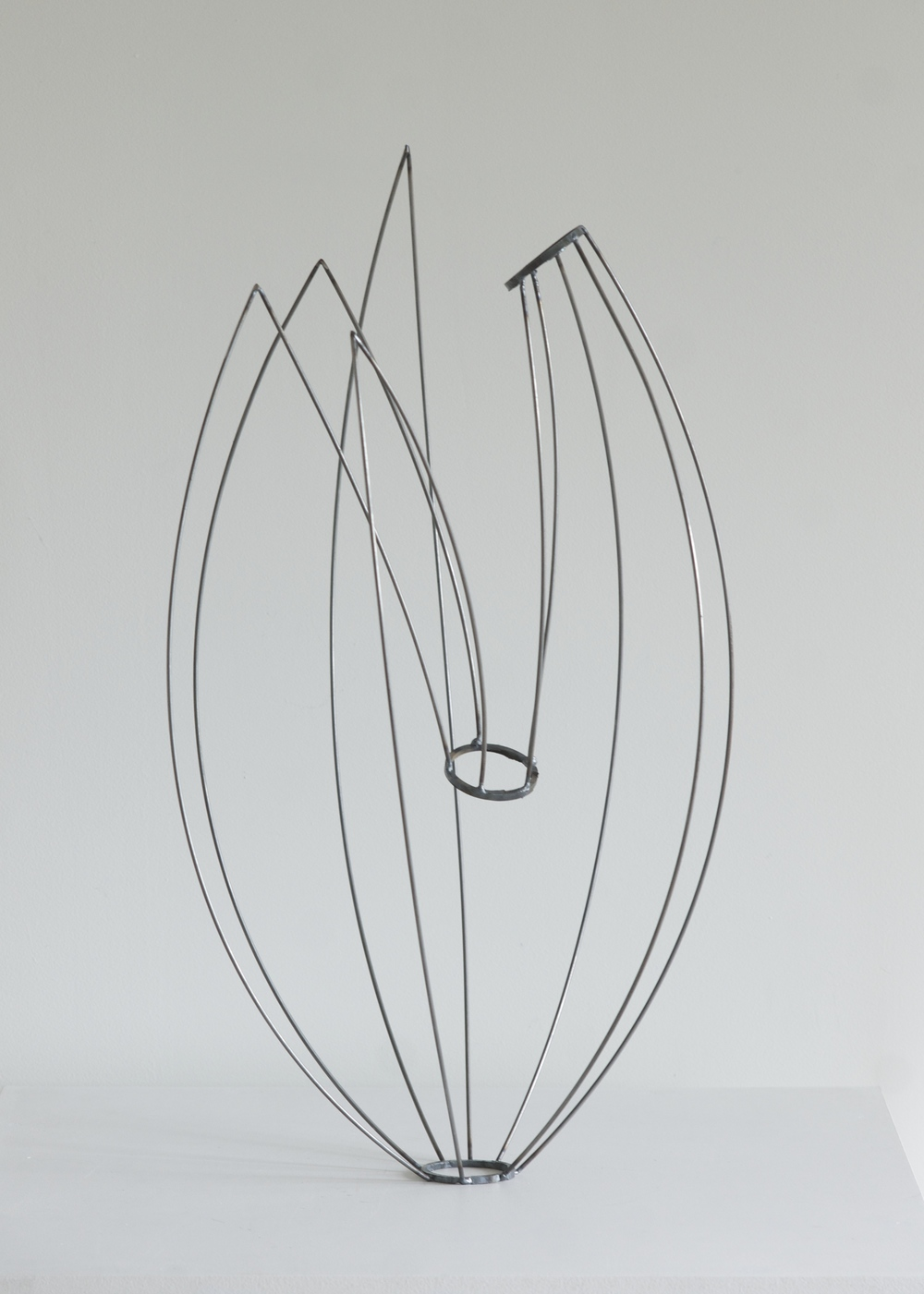 "Line Drawing 2  , 2014  Steel, 17"" x 14"" x 26""   Cody and Reid Schwartz Collection"