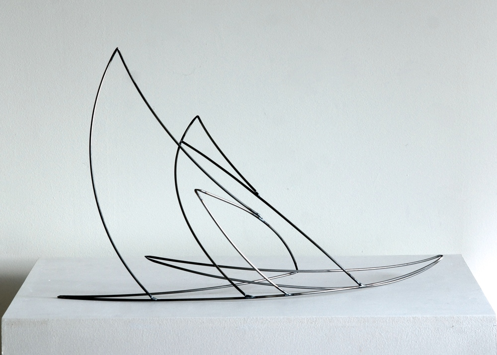 "Line Drawing 5,   2014    Steel,21.5"" x 12.5"" x 11.5"""