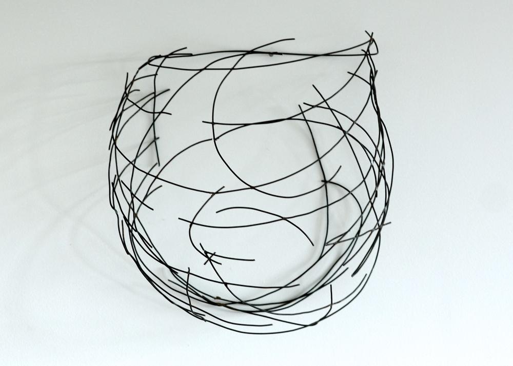 "Wall Vessel 1  , 2014  Steel, 12"" x 12"" x 7.5""   Alyn Carlson Collection"