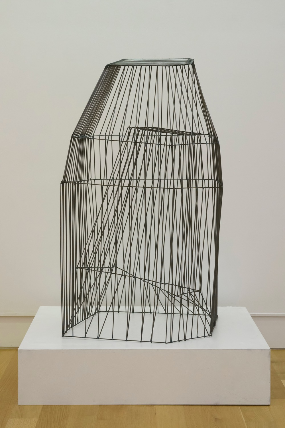 "Cage 2,   2015  Steel,  46"" x 27"" x 22"""
