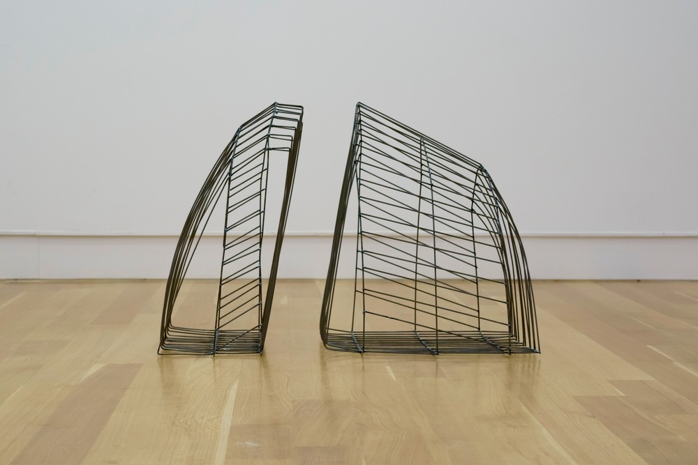 "Cage 1,   2015  Steel, 23"" x 32"" x 20"""