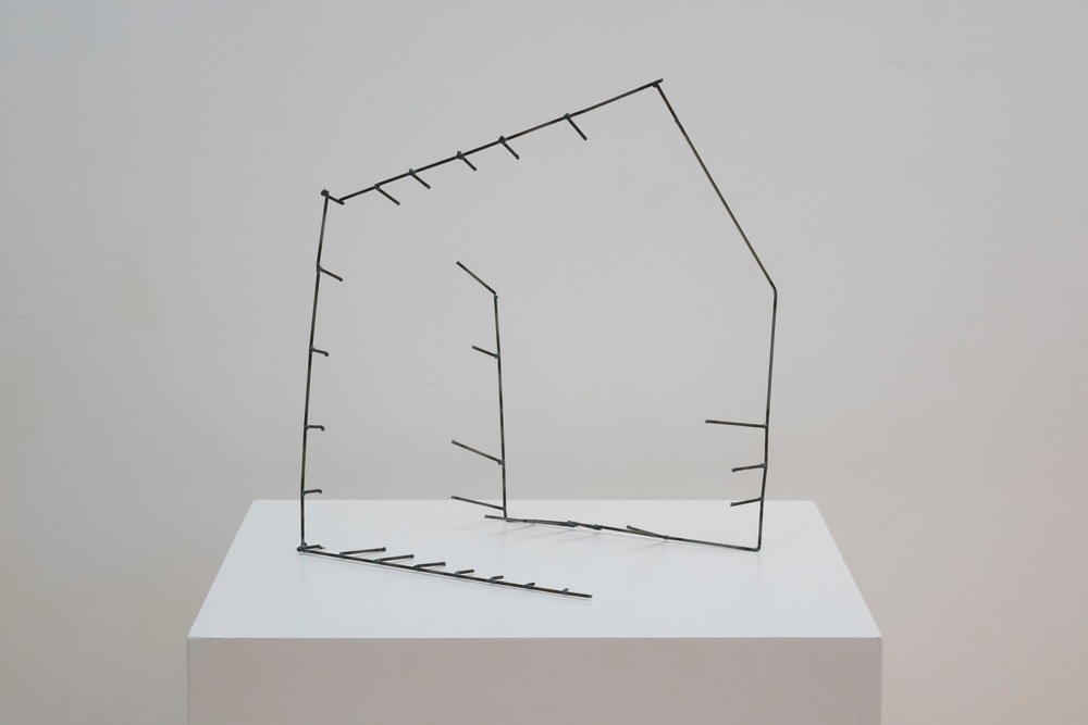 "Open Cage: Cube,   2015  Steel,  17"" x 17"" x 14"""