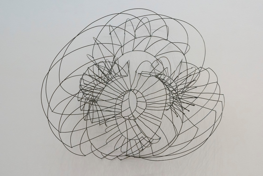"Round Drawing,   2015  Steel,  22"" x 25""x 10"""