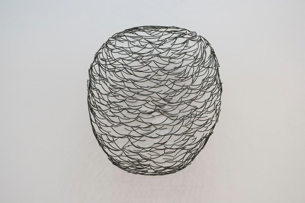 """Swarm/Head Drawing  ,2015  Steel,16"""" x 14"""" x 8"""""""