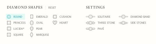 shapes & settings