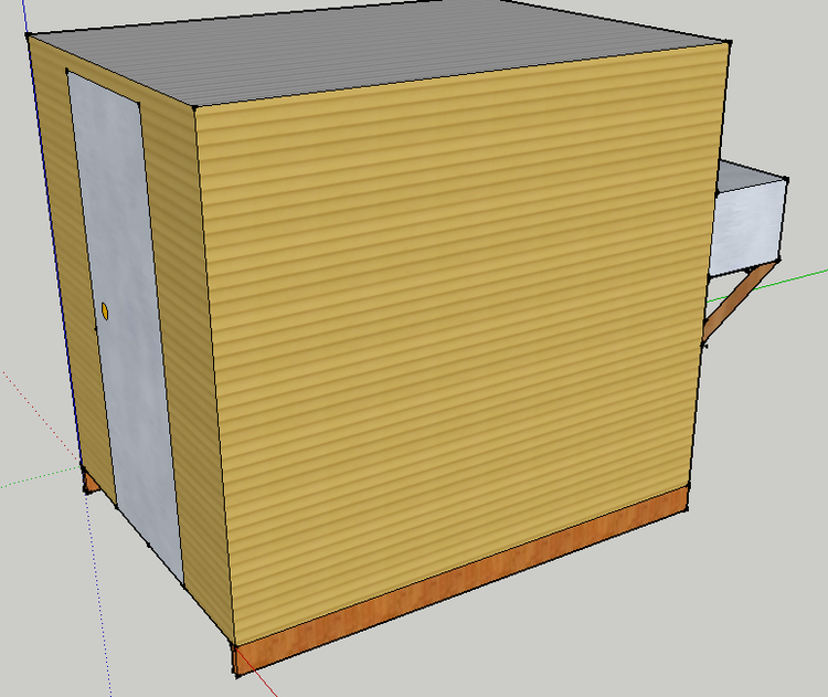 Second task walk in refrigerator taproot farm fruit sketchup rendering of the final product solutioingenieria Choice Image