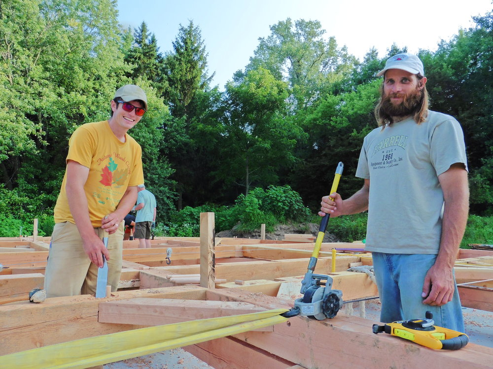 A big beard is helpful but  not required for timber framing.