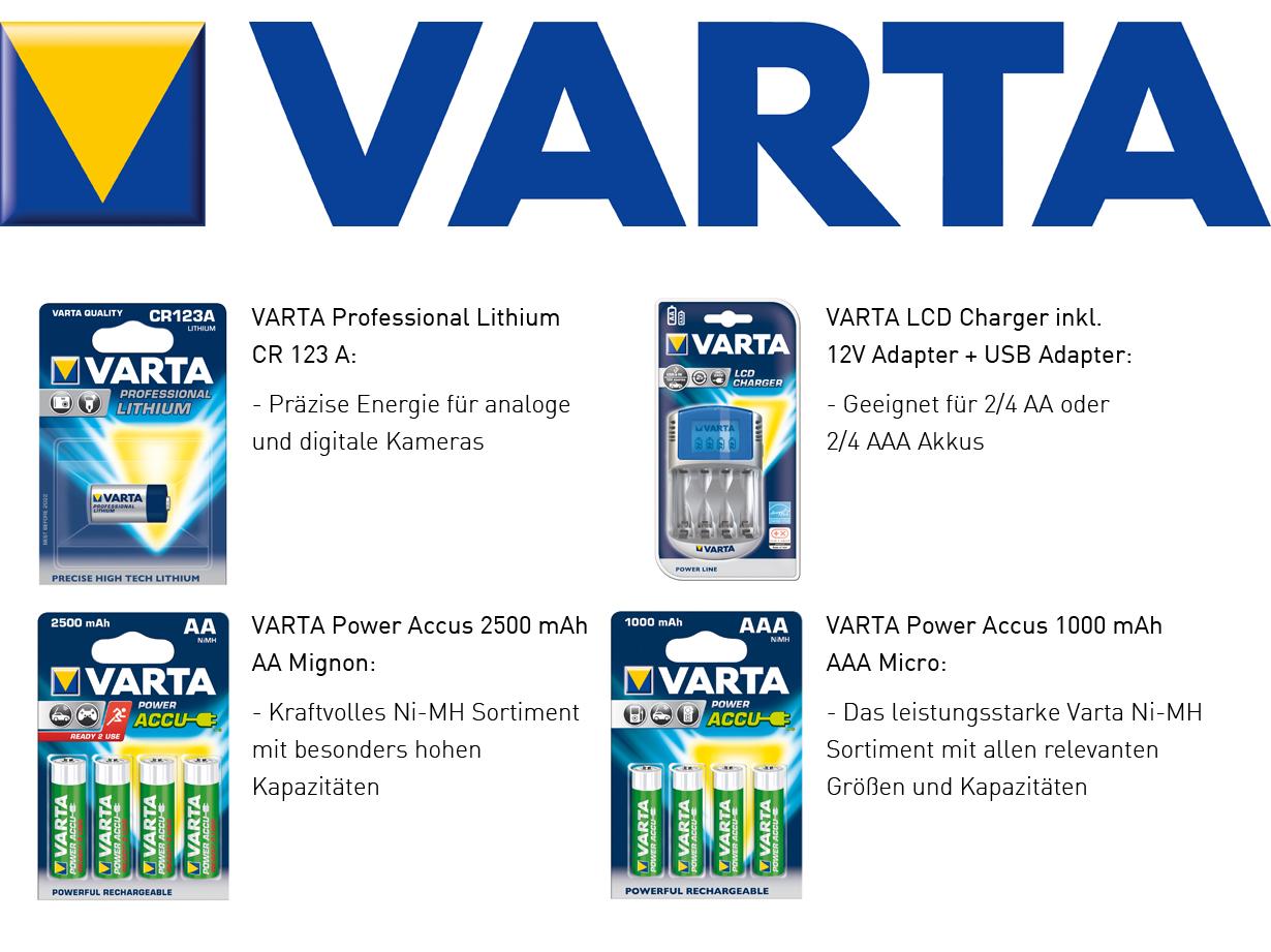 Projektsponsor seit dem 05.11.2012: VARTA    Varta sorgt dafür, dass wir mit hochwertigen Akkus, Batterien und Ladegeräten versorgt sind. Vielen Dank für dieses großartig geschnürte Paket.