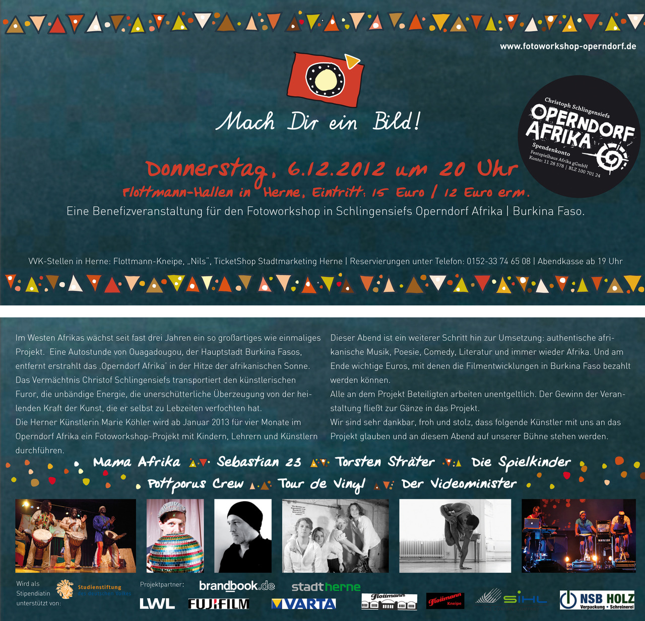 BENFIZVERANSTALTUNG am 6.12.2012 in der Flottmann Hallen in Herne