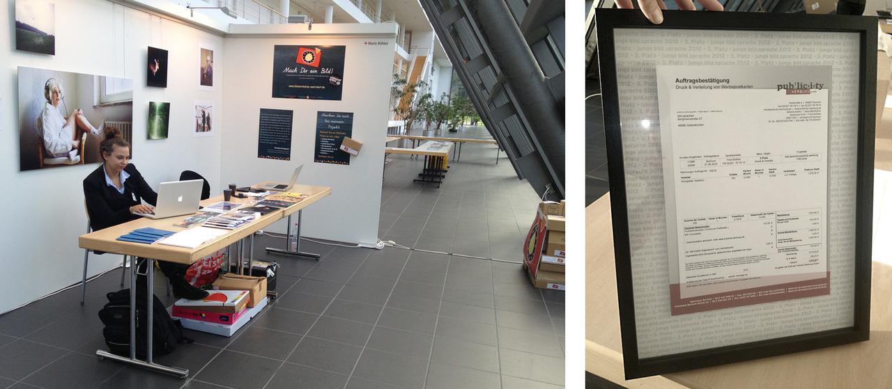MESSESTAND auf der bild.sprachen-Messe 2012 3. Preis gewonnen - und was heißt das jetzt? -> 12.500 Postkarten werden gedruckt und verteilt. http://www.bildsprachen.de/messe/bildsprachen-2012/