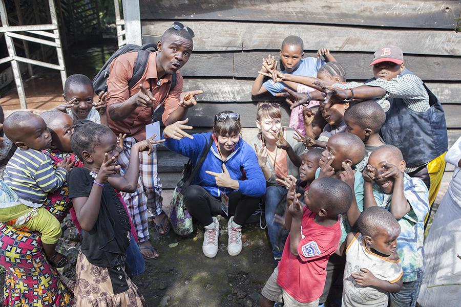 Yves, Marie & Jana in Sangoa in Goma