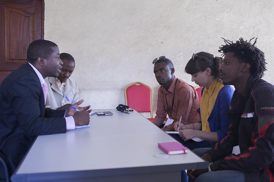 Das Team beim Minister für Kultur, Kunst und Tourismus
