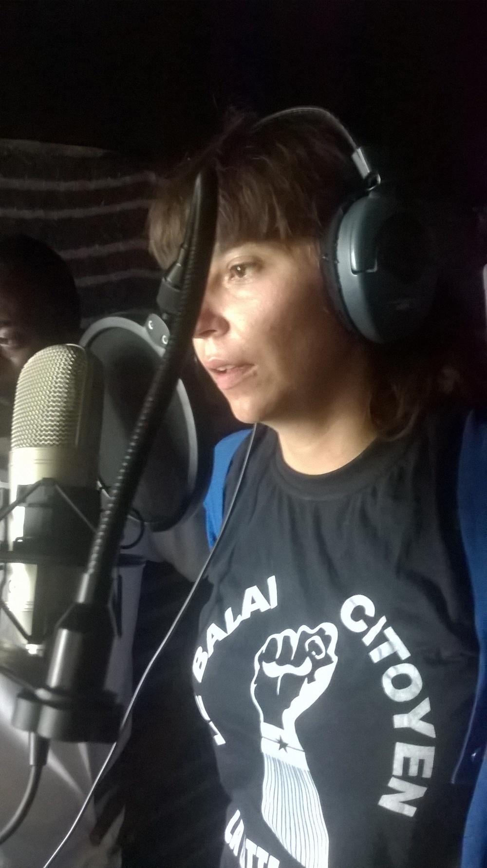 Marie im Studio