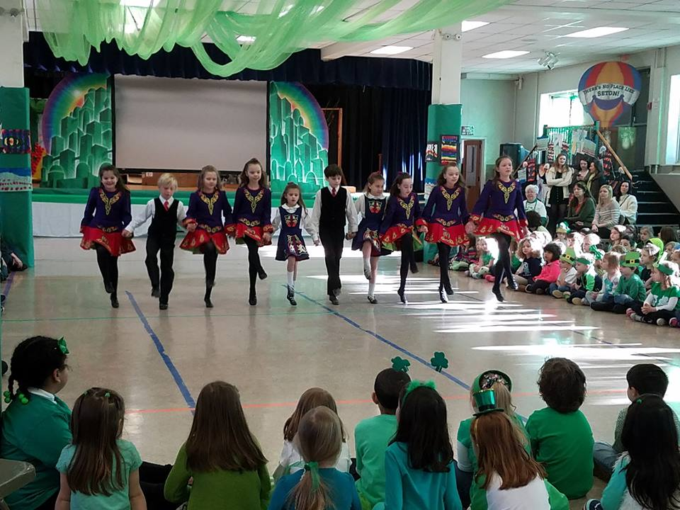 dancing the big jig at seton catholic school, 2017