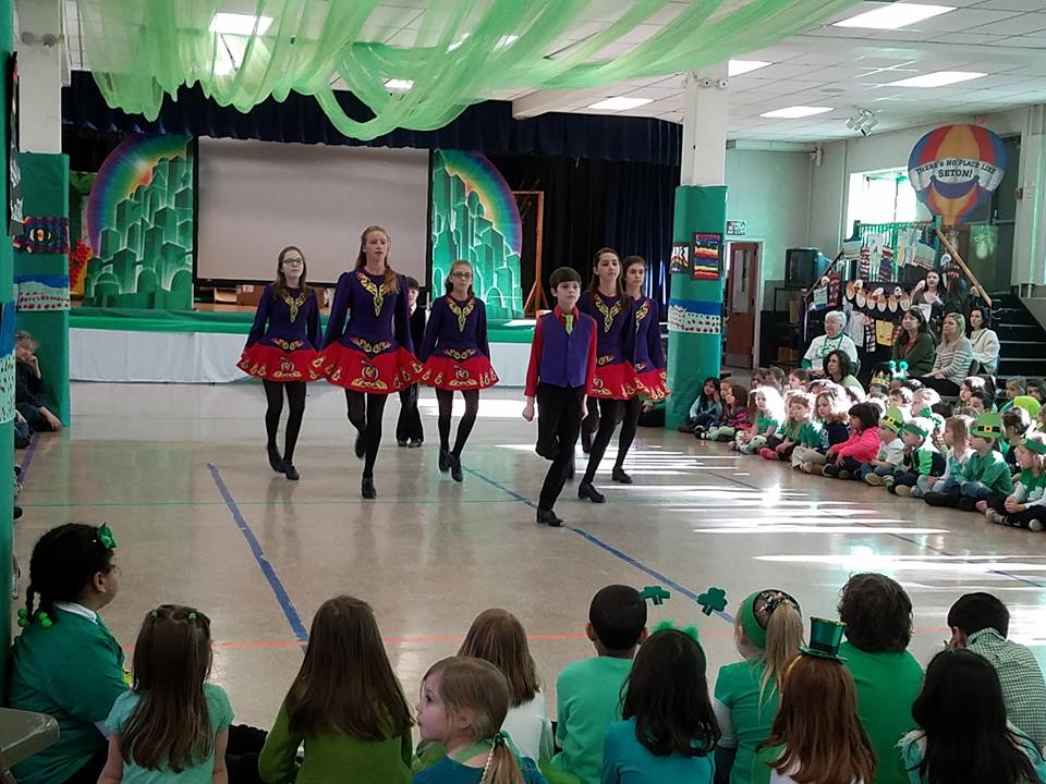 dancing the blackbird at seton catholic school, 2017