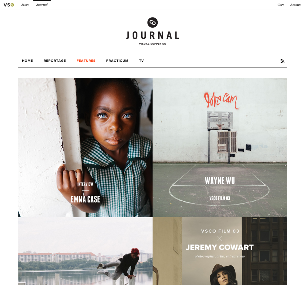 Visual Supply's Journal Site - http://vsco.co/journal