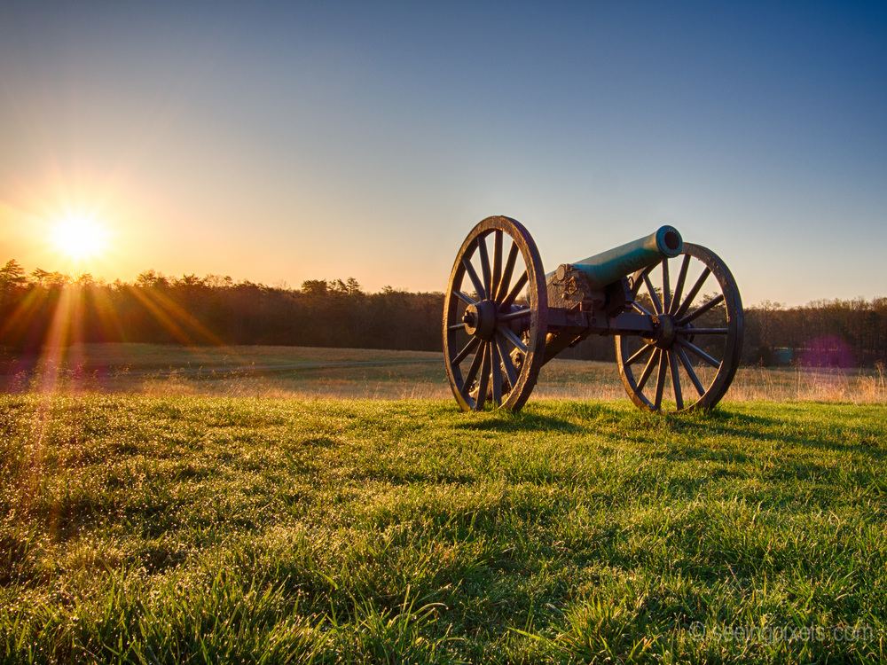 Canon at sunrise