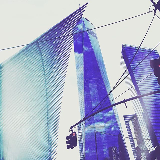 One World Trade Center & the spiny Oculus. #NewYorkCity #wtc #oculus #oculusnyc #fidi