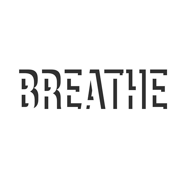 BREATHE: volunteer to take control of the involuntary. #breathe #meditate #inhale #typography #reminder #dontforget #thoughtfulness #strength #mindful #mindovermatter #masteryourbody #beauty #simplicity #originalartwork #design #brooklyn #nyc