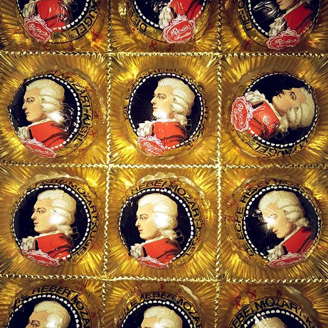 Someone brought me Mozart Chocolates from Germany. So sweet! I'm quite obsessed with the packaging. So thoughtful! So kind!  #mozart #chocolate #packaging #packagingdesign #Germany