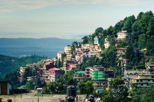 View of McLeod Ganj, Dharamsala, Himachal Pradesh