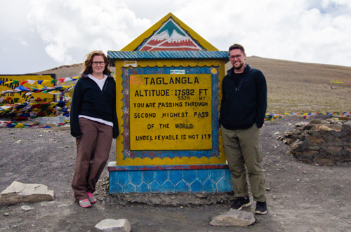 "Ironically, the sign incorrectly states Taglang La is the 2nd highest motorable road in the world. ""Unbelievable is not it?!"""