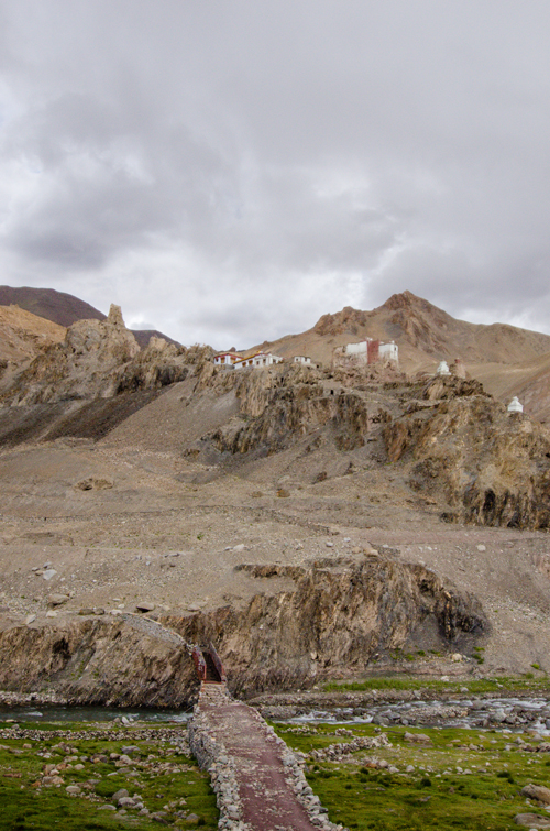 Small gompa in a small Ladakhi village near Leh