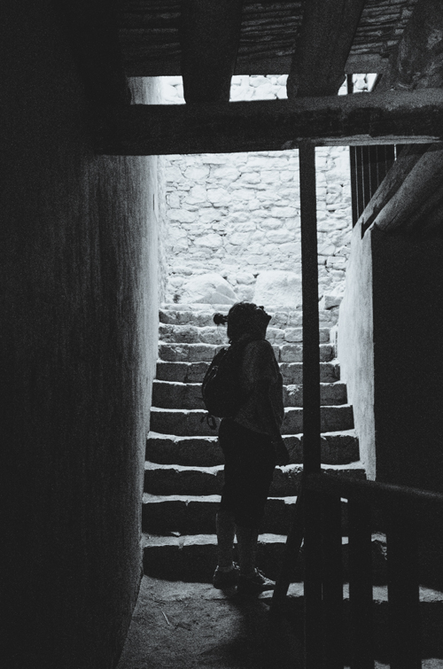 The quiet and dark passageways inside Leh Palace