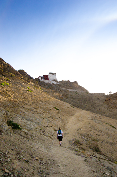 The walk up to Tsemo Gompa and Fort