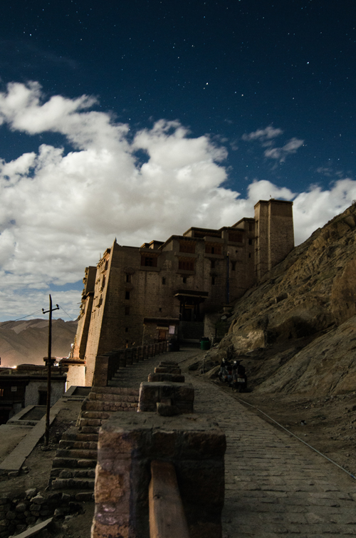 Leh Palace by night