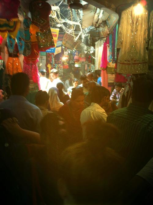 A crowded bazaar